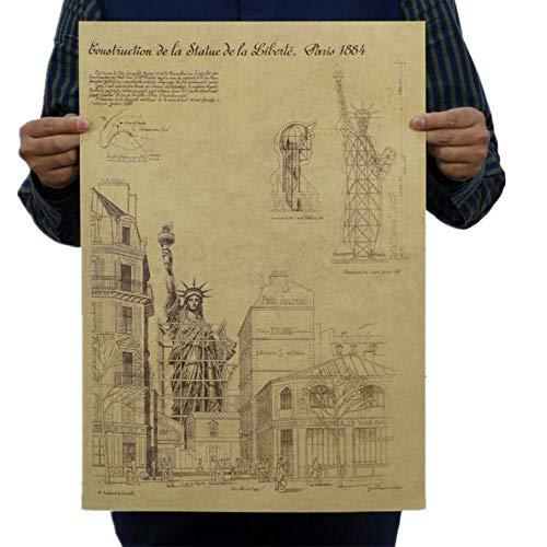 Poster Retro Poster DIY Dekor Weinlese-Plakat Nicht Klebrig Abnehmbare Wohnkultur Poster 01 ()