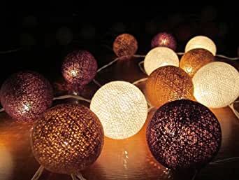 Chakam lights guirlande lumineuse boule chocolat 20 - Boule a the ikea ...
