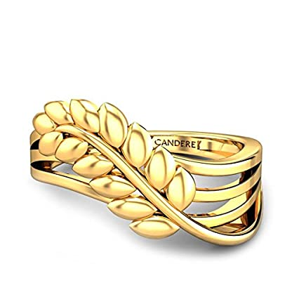 Candere By Kalyan Jewellers 22k (916) Yellow Gold Irene Ring