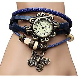 AOHANG Original Women Vintage Watches,Bracelet Wristwatches Butterfly Pendant