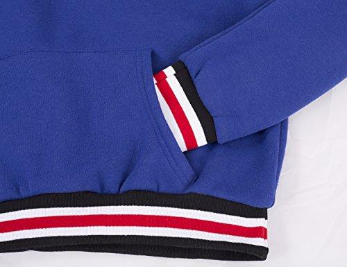 Yidarton Sweat à Capuche Femme Sweat-shirt Manche Longue Pull-over Automne Hiver Casual Blouse Mode Top Pull Hoodie Bleu