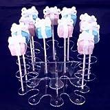 Super Cool Creations 22cm Durchmesser 6,5cm hoch Acryl Splash Cake Pop-Ständer mit 16Löcher 5cm Apart, transparent