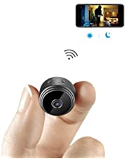 Atech AHAXASilicone and ABS Mini WiFi Hidden Wireless HD 1080P Indoor Home Small Spy Security Cameras/Nanny Cam Built-in Battery with Motion Detection/Night Vision for iPhone/Android Phone/iPad/PC