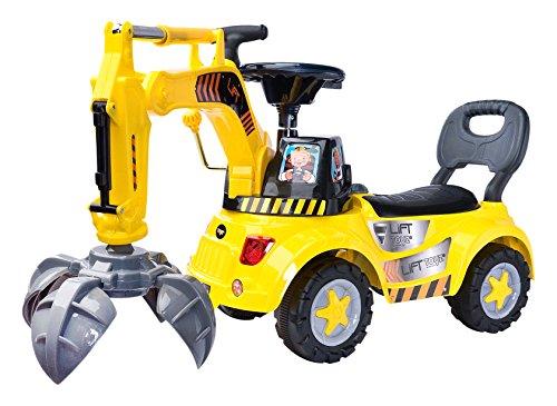 Toyz  - Caretero Lift Rutscher Rutschauto Rutschfahrzeug Schiebewagen, gelb thumbnail