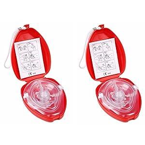 CPR Maske CPR Wiederbelebung Gesicht Maske CPR Pocket Mask (1Pack CPR Face Shield)
