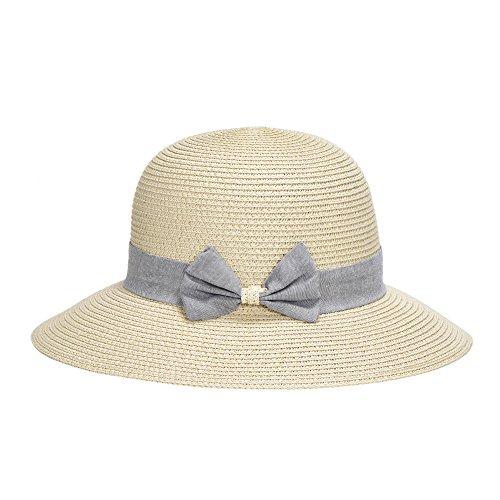 Miuno Miuno Damen Sonnenhut Elegant Partyhut faltbare Kappen Sonnen Schutzen (H51301-2(Beige))