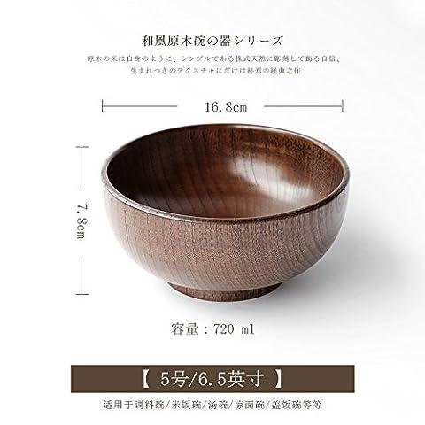 Sweet de cuisine–Creative personnalité japonais Naturel sauvage Bois de hêtre Vert Bois Peint Bol de bol à