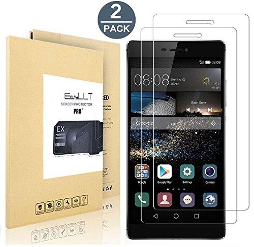 [2 Pack]Huawei P8 protector de pantalla,EasyULT Protector de Pantalla de vidrio templado...