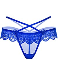 81c8abf15379 Chinatera Men s Water Drop Shape Lace Elastic Strap G String Thongs Briefs  Underpants Lingerie