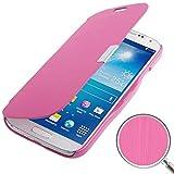 König-Shop Handyhülle Tasche für Samsung Galaxy S4 i9500 / i9505 / i9506 / Value Edition GT-I9515 pink gebürstet