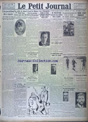 PETIT JOURNAL (LE) [No 23730] du 05/01/1928