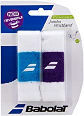 Babolat 45S1473 Reversible Jumbo Wrist Band, 2 Pieces
