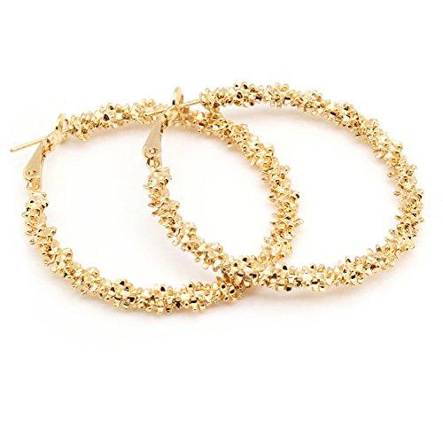 Orecchini donna, 2Colors Orecchini grandi orecchini a cerchio grandi orecchini a cerchio in lega da donna(d'oro)
