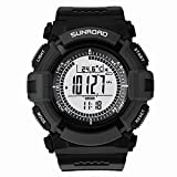 Sunroad 3ATM Waterproof Altimeter Compass Stopwatch Fishing Barometer Pedometer Outdoor Sports Watch Multifunction (Grey Dial)
