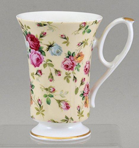 Fine English Bone China ANTIQUE ROSE CHINTZ Mug by Imperial