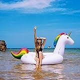Unicornio Inflable, Flotador de Para Piscina Los Adultos y los Niños Pueden Jugar en la Playa Summer Party Loungers Juguetes para (275cm X 140cm X 120cm)