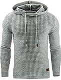 Junshan herren kaputzenpullover oversize hoodies männer sweatshirt Herbst Winter kaputzenpulli 36-48 (hellgrau, XL)