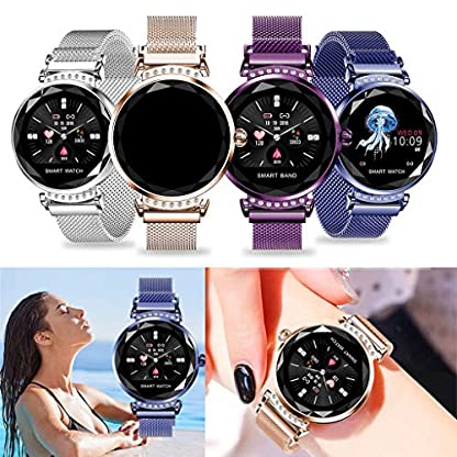 Damen-Smart-Watches-Bluetooth-Smartwatch-Wasserdicht-Fitness-Tracker-mit-Schrittzhler-Sport-Schlaf-Anruf-Benachrichtigungen-Kompatibel-mit-Android-iOS-Mutter-Freundin