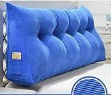 Dreidimensionale dreieckige Kissen, Große dreidimensionale Dreieck Waschbar Bett Kopfteil Kissen Gepolsterte Sofas Große Rückenlehne Baumwollkissen Kissen, ( farbe : A , größe : M )