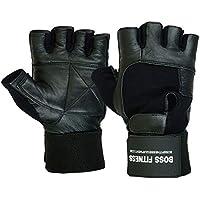 BOSS FITNESS Gewichtheber-Handschuhe Premium Qualität Leder verlängerte Handgelenkstütze Unisex Paar preisvergleich bei billige-tabletten.eu