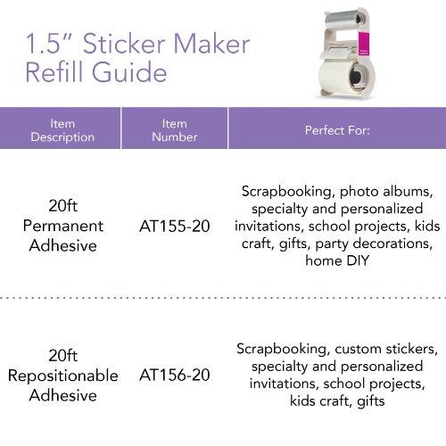 Leitz 623477 Nachfüllkassette für Xyron Quick Sticker X150, ablösbar, 6 m