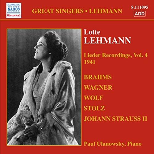 Lotte Lehmann, Soprano Lieder Recordings - Volume 4
