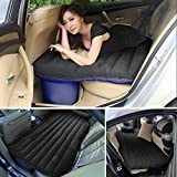 Car Inflatable Mattress Back Seat Extended Couch with Electric Pump & Pillow & Repair Glue and PVC Fabric & Carrying Bag, Air Bed for Travel Outdoor Camping