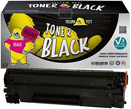 Yellow Yeti CF283A 83A (1500 páginas) Tóner Compatible para HP Laserjet Pro M201dw M201n MFP M125nw M127fn M127fw M225dn M225dw M125a M127fp [3 años de garantía]