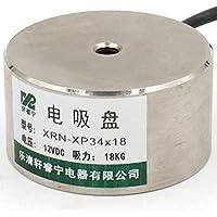 Imán electromagnético Heschen Solenoid P34/18, OD: 34 mm, DC 12 V, 18 kg