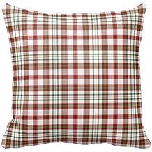 Rojo Blanco y verde manta de cuadros Gingham patrón de ajedrez cuadrado funda de almohada Funda
