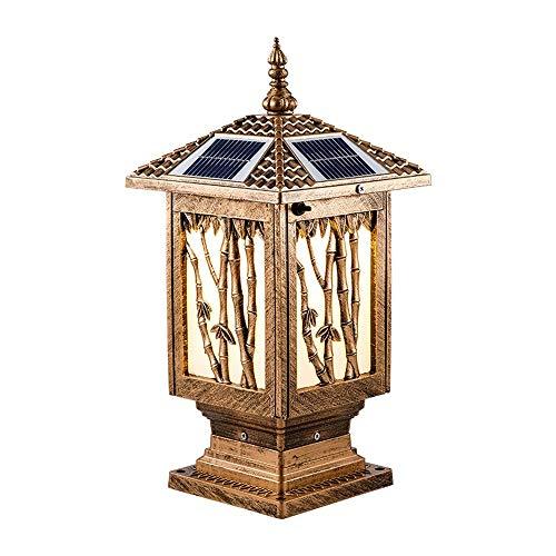 MXVE Solar Zweifarben Energy Column Scheinwerfer Light Wai Wandleuchte Outdoor Super Bright Wasserdicht Big Door Post Licht Garden Light Haushalt Solar Light Pillar Lampe Bamboo Festival (Größe : A) -