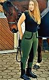 Hochbund Reithose Olivia Vollbesatz Schlupf Khaki Tysons 36 38 40 42 44 46 48 (40)
