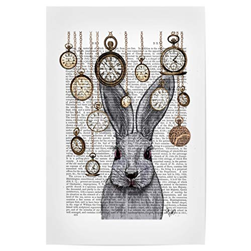 artboxONE Poster 30x20 cm Film Folge DEM Kaninchen - Bild Alice im Wunderland Wonderland Kaninchen
