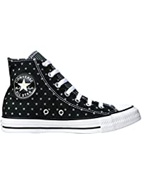 Converse Chuck Taylor All Star mujer Sparkle Wash Ox, Sneakers bajas Mujer, Negro (Noir - Noir), 41