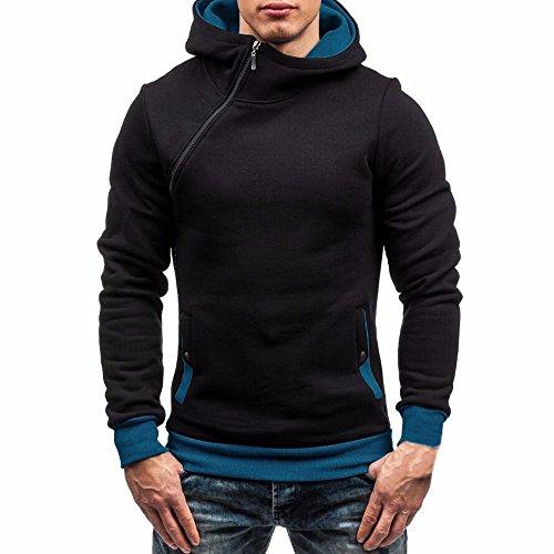 Yvelands Herren Kapuzenpullover Tops Pullover Bekleidung Jacke Lange -