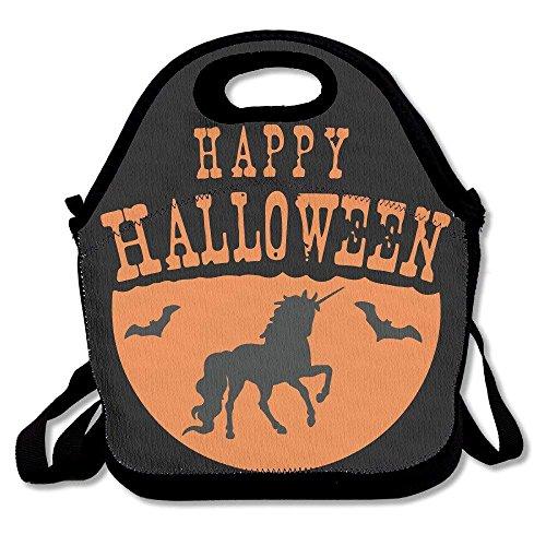 icorn Halloween Lunch Bag Tote Handbag Lunchbox for School Work Outdoor ()