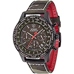 Detomaso Firenze Men's Quartz Watch with Camouflage FORZA di Vita Chronograph Quartz Fabric DT1071 D