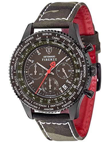 Detomaso Firenze Men's Quartz Watch with Camouflage FORZA di Vita Chronograph Quartz Fabric DT1071D