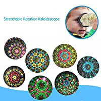 EBILUN Plastic Stretchable Rotation Kaleidoscope Kids Children Educational Toy Gift
