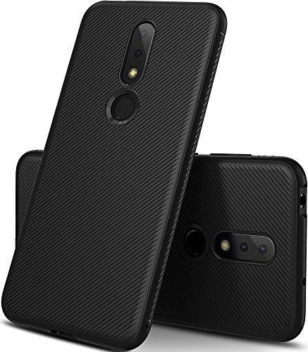 GeeMai Nokia 6.1 Plus Hülle, [Schwarz Soft Hülle] Ultra Thin Silikon Schutzhülle Tasche Soft TPU Hüllen Handyhülle für Nokia 6.1 Plus Smartphone