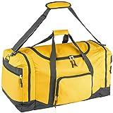 TecTake Sporttasche Reisetasche Umhängetasche Trainingstasche mit Trageriemen 70 x 35 x 35cm - Diverse Farben - (Gelb | Nr. 402372)