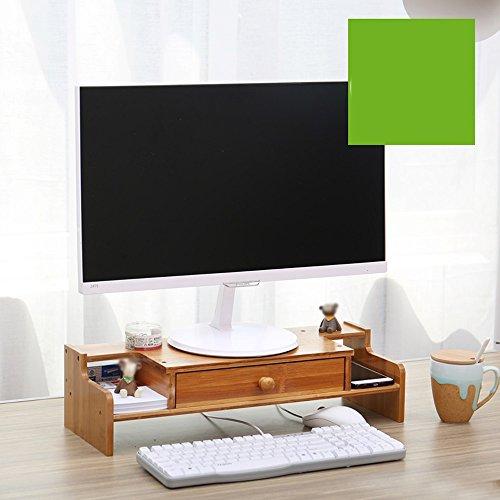 Unbekannt Support Wooden Desktop Computer Monitor Bildschirm Zur Erhöhung Der Shelf, Office Desk Storage Finishing Regale (Farbe : 5#)