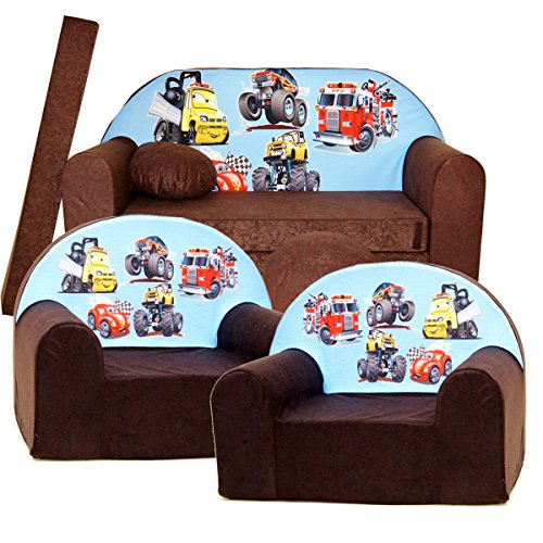 Kinder 3-er Set Kindersofa + 2 sessel K14