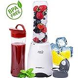 Smoothie Maker | Frullatore mini blender | 300 Watt | privo di BPA e contenitori che possono essere lavati in lavastoviglie | mixer ad immersione | drink and go |