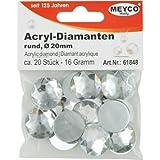 Strass Acrylique de Diamant 20mm env. 20pièces Cristal...