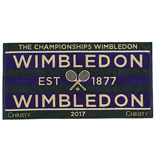 Preisvergleich Produktbild Wimbledon 2017 on Court Herren Tennis Handtuch von Christy Uk 131 Jahre Wimbledon
