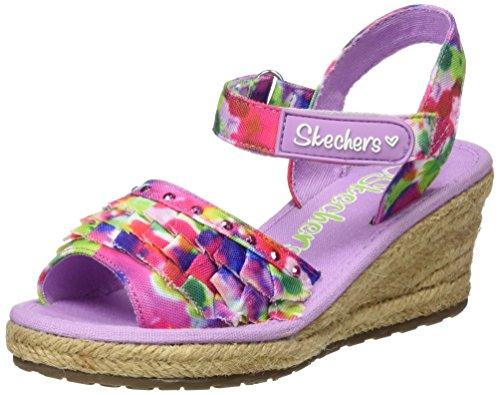 Skechers Mädchen Tikis-Ruffle Ups Espadrilles, Pink (Lvmt), 35 EU