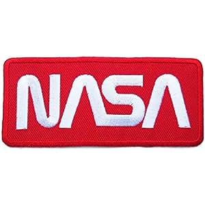 Ecusson brodé Ecussons Thermocollants NASA Rouge / Blanc