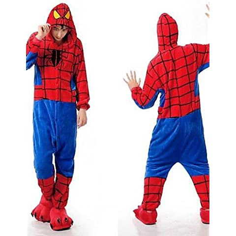 &G&g& 2016 spider-man kigurumi franela adulto cosplay pijama ropa de dormir , m