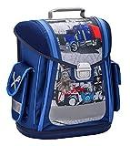 Ergonomischer Schulranzen Blau Lastwagen für die Grundschule - 1-3 Klasse/Jungen von Belmil